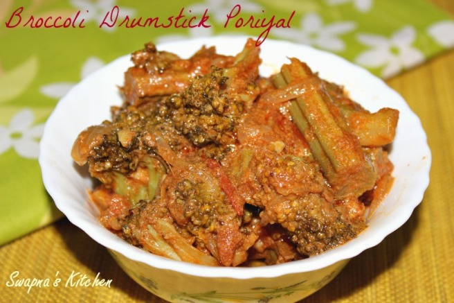 broccoli drumstick poriyal