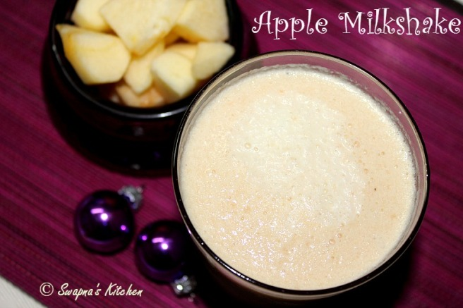 apple milkshake'