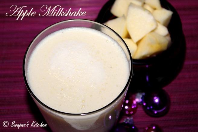 apple milkshake.