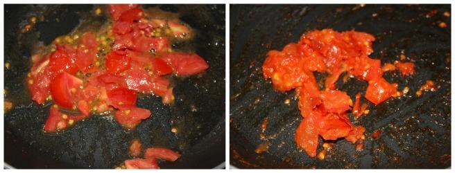 saute tomato separately
