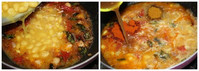 add  chiili powder,sambar powder,tamarind juice