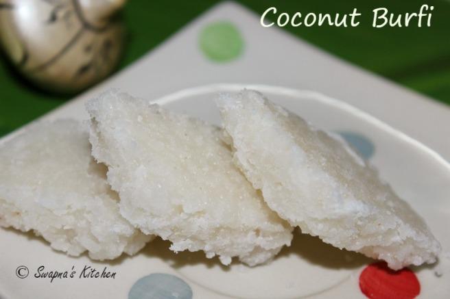 coconut burfi,