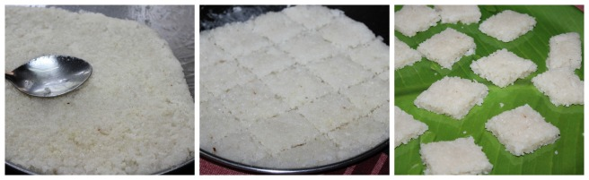 white coconut burfi.