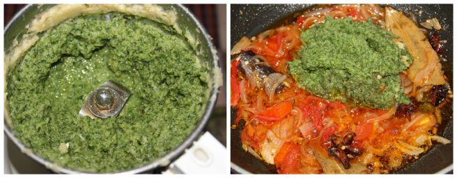 add ginger,garlic,mint,coriander paste