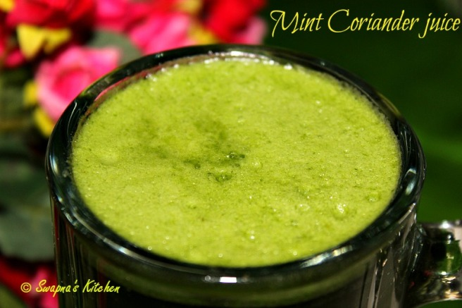 mint coriander juice.,