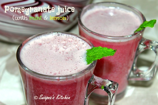 pomegranate mint & lemon