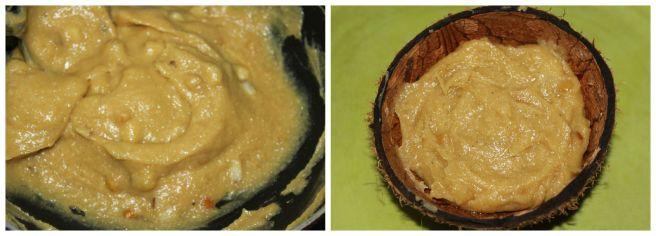 in coconut shells