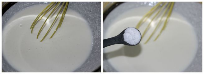 whisk curd with salt