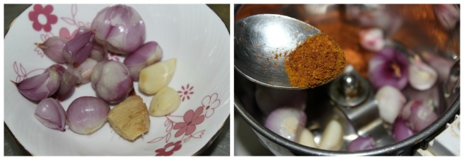 grind shallots withumin powder