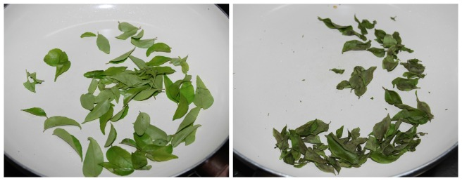 some curry leaves