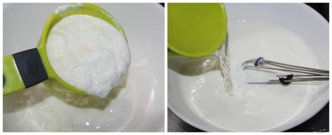 mix curd with water
