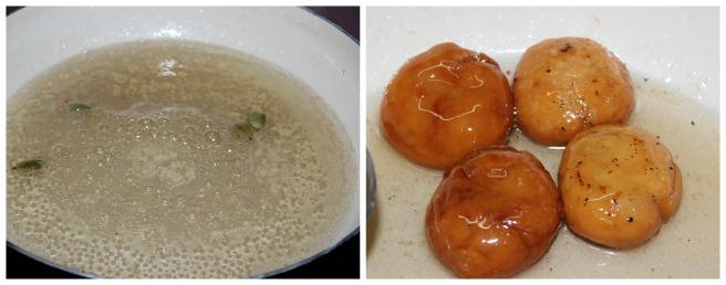 soak in sugar syrup