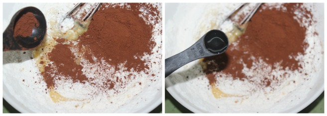 add cocoa powder,vanilla extract