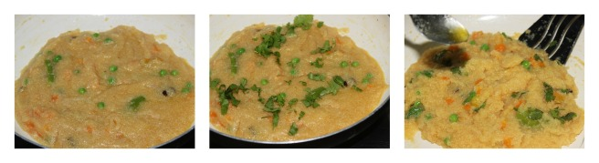 add coriander leaves and ghee