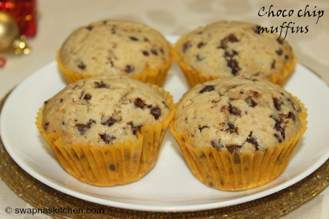 choco chip muffins,,
