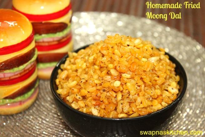homemade fried moong dal