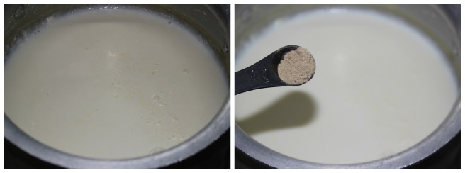 bring another 3 cups of milk to boil ,reduce to half its quantity and add cardamom powder
