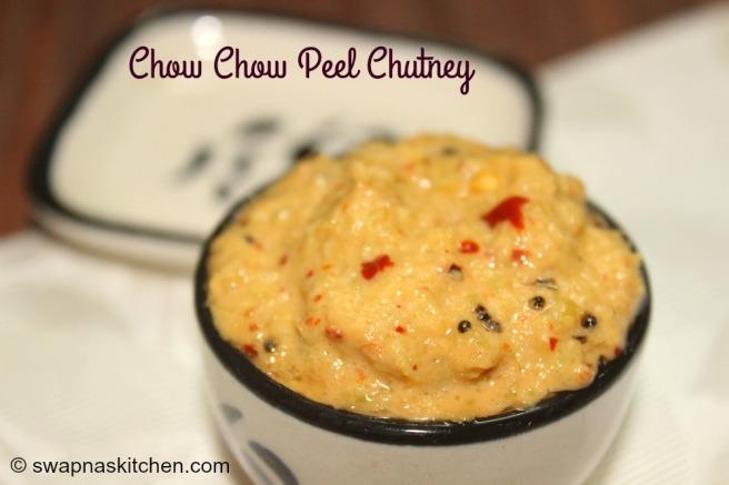 chow chow peel chutney