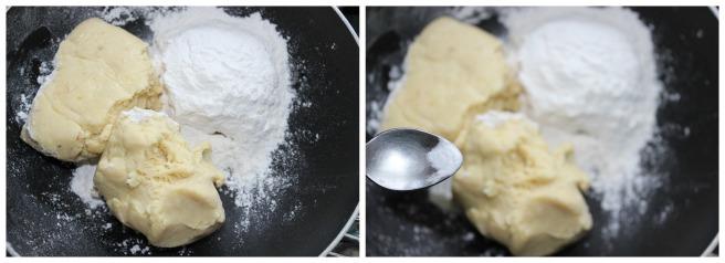 add khoya ,baking soda,maida