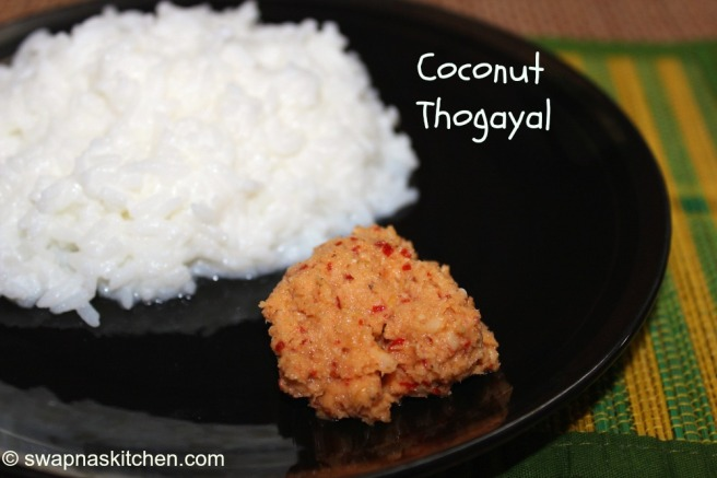 coconut  thogayal