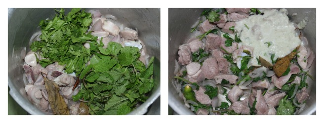 add mint,coriander leaves and ground mixture