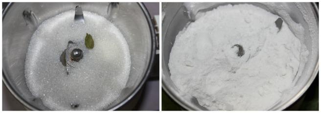 powder the sugar